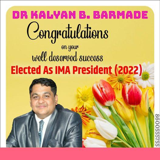 Heartiest congratulations to Dr. Kalyanji Barmade